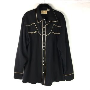 Scully Western Cowboy Shirt Long Sleeve Large